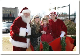 Kailyn and Jessica with Santa & Ms. Claus