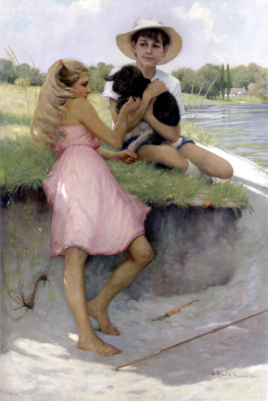 Allan R. Banks, Children with Lop-eared Rabbit