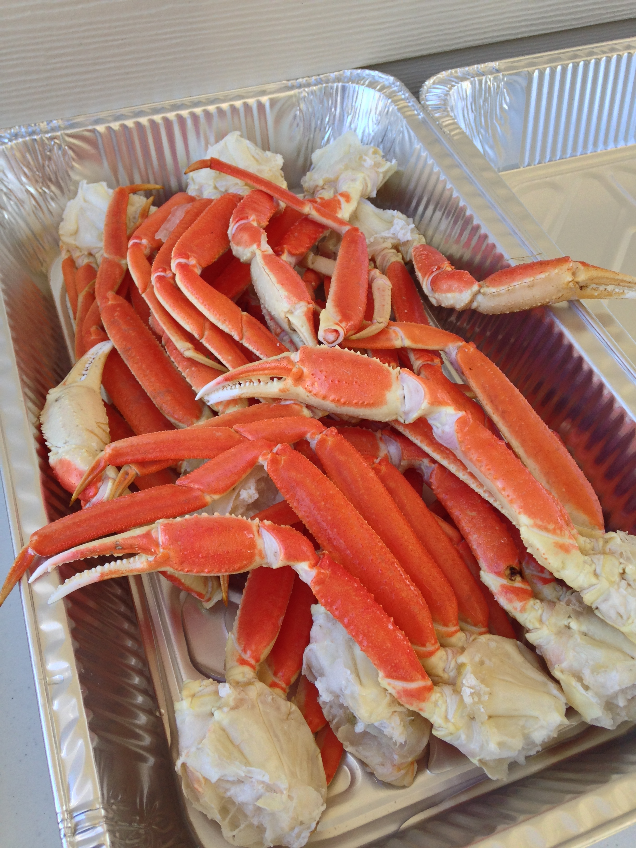 Crab legs for Christmas lunch